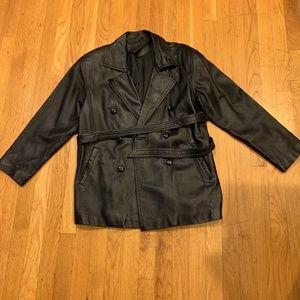 Pre- Owned Ladies Real Sheep Leather Black Jacket